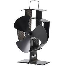 VonHaus Wood Stove Eco Fan - Heat Powered Ultra Quiet Triple Blade Fireplace Fan