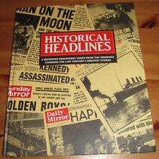Vintage Newspapers Book Antique Vintage Famous 9/11 JFK History Old Ephemera UK