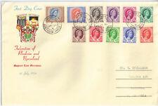 Rhodesia & Nyasaland 1954 FDC Definitives 1/2d to 2s [11] Jul 1 Chingola