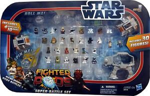 Star Wars Fighter Pods Super Battle Set w/ 31 Mini-Figures & 4 Vehicles LOT