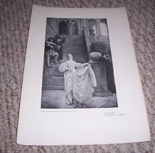 "Rare Print ""A MEASURE"" Edwin A Abbey Beatrice in a scene Much Ado About Nothing"