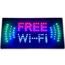 Free Wi-Fi internet cafe LED store business Sign WIFI shop Open hotspot Wireless