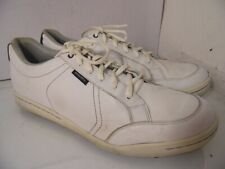 Ashworth white sneakers Golf Laces Leather Mens Size 14 Spikeless