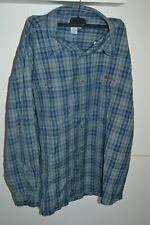 Carhartt Men Button Up Shirt Long Sleeve Size 3XL