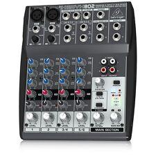 NEW Behringer 802 8 Input 2 Bus Low-Noise Xenyx Mic Pre-Amps Pro Mixer