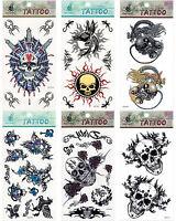 Skull Dagger Blood Dragon Pegasus Pirate Vampire Flame Sexy Temporary Tattoos