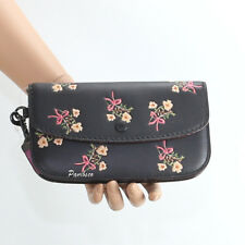 NWT Coach 1941 Floral Flower Leather Wristlet Clutch Wallet 24019B New RARE