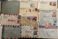 Central & South America 10x Us censored covers during Wwii;7 diff countries*d