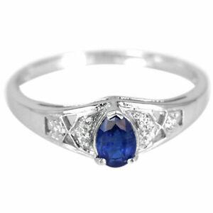 beautiful blue kyanite sterling ring size S 925