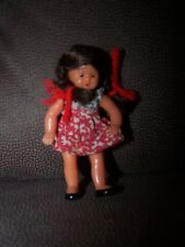 Vintage plastic doll jointed limbs with dress