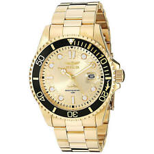 Invicta Men's Pro Diver Watch Quartz Champagne Dial Gold Tone Bracelet 30025