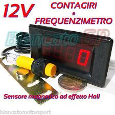 CONTAGIRI E FREQUENZIMETRO DIGITALE LED 9999Hz 9999rpm trapano a colonna tornio