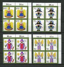 BUND Nr.1484-1487 ** ECKRAND-VB-SATZ r.o. WEIHNACHTEN ME 24,-++ (120529)