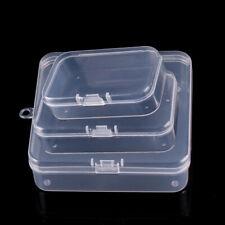 10 Mini Clear Plastic Storage Box Jewelry Bead Organizer Earplugs Case Container
