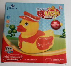 Plush Cartoon Duck Light Up/Musical Childrens Toy