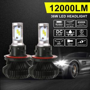 H13/9008 LED Headlight Bulbs Hi/Lo Beam Lamp Replace Halogen Globe White 6500K