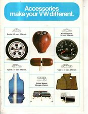 1971 VW Accessories catalog - Beetle, bus, Karmann Ghia; Squareback - 60 items