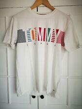 Tommy Hilfiger Jeans Big Logo T-shirt, Regular Fit, Size XS, Colour White