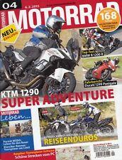 M1504 + KTM 1290 Super Adventure + TOP-Test BMW R 1200 R + MOTORRAD 4/2015