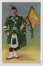 PIPE MAJOR, 4th ROYAL SCOTS: Military postcard (C43447)