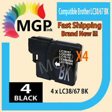 BLACK ONLY 4x generic Ink Cartridges for Brother LC38 LC67 MFC275CW 490CW