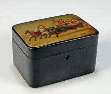 Antique Old Hand Painted Russian Lacquer Box
