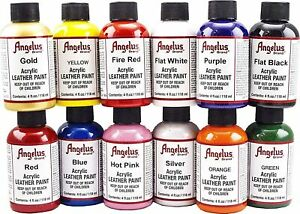 Angelus Leather Acrylic Paint 4oz For Sneakers Shoes Bags Trainers Boots Design