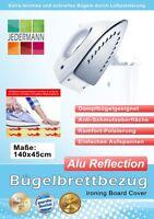 Bügelbrettbezug Bügelbrett-Bezug Alu Reflection 140x45 cm silber Komfort Polster
