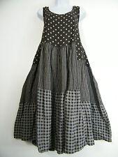 PLUS PLUS SIZE 100% LINEN SPOTTY/STRIPY/CHECK DESIGN LAGENLOOK DRESS SIZE 20-24