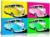 Large Pop Art Volkswagen Camper Van Canvas Wall Art Picture Print