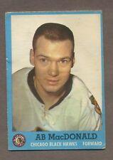 1962-63 Topps Hockey No. 38 Hawks Ab MacDonald Vg