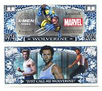 WOLVERINE BILLET MILLION DOLLAR ! X-MEN HUGH JACKMAN Avengers Super Heros Marvel