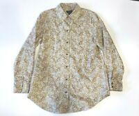 Pendleton Women's Size 10 Paisley Print Brown Green Button-front Collared Shirt