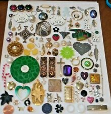 Big Lot 100+ Most Vintage Jewelry Parts Charms Findings Craft Upcycle Create Art