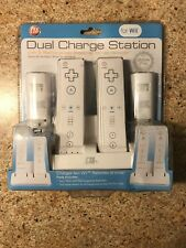 CTA-Dual Charging Station for Nintendo Wii W/ 2 Rechargable Batteries- New
