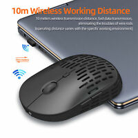 6 Buttons 1600dpi 2.4G Luminous Hole Rechargeable Wireless Mute Gaming Mouse