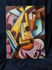 Juan Gris oil on canvas, vintage, rare.