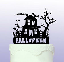 Haunted House Cake Topper that can be personalised - Halloween