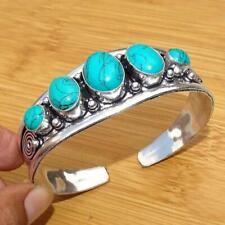 Royal Turquoise Gemstone Silver Turquoise Cuff Cuff Jewelry