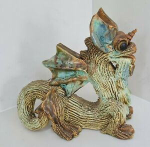 Yare Designs Dragon Studio Pottery - Large Unicorn Dragon, Tongue out