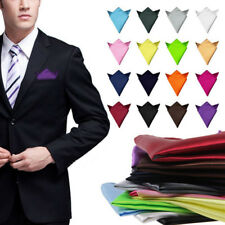 Men Fashion Solid Pocket Square Man Wedding Party Hanky Handkerchief Aeecssories