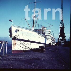 60 x 60 mm glass slide Ship Dunera c1950s/60s r37