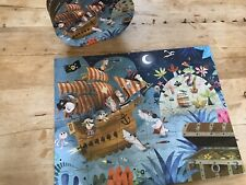 Janod 36 Pièces Jigsaw Puzzle-Pirates - 100% complet