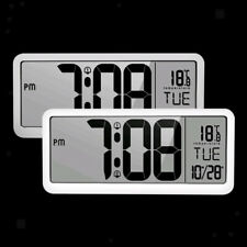 14'' Wall Clock with Jumbo Display Calendar Indoor Temperature Bedroom Clock