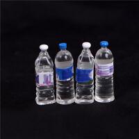 4 x dollhouse miniatura agua mineral embotellada 1/6 1/12 escala modelo kp
