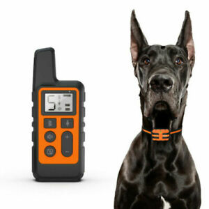 Rechargeable Remote Pet Dog Training Collar LCD Electric Shock Anti-bark
