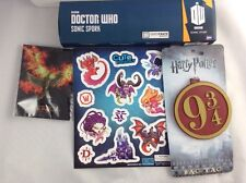 Loot Crate Lot: Harry Potter Luggage Tag, Dr. Who Sonic Spork, Mocking Jay +More