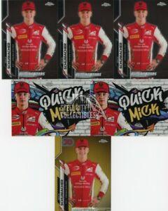 2020 Topps Chrome Formula 1 Mick Schumacher Rookie Card Lot (6) w/ Gold & Insert