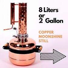 Copper moonshine still Distiller Alcohol 2 Gallon Whiskey Still Liquor Vodka 8l