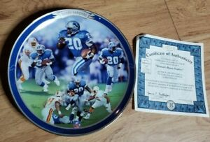 BARRY SANDERS THE GAME'S GREATEST Bradford Plate Detroit Lions football nfl